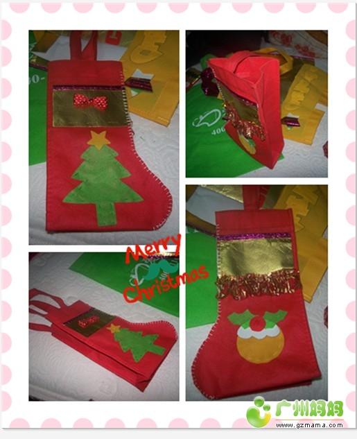 购物袋变身圣诞袜子,圣诞帽图片