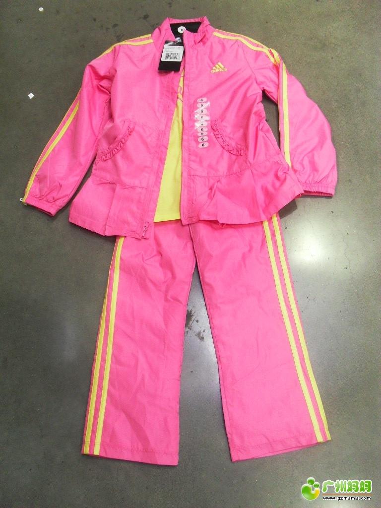国直邮 正品 Adidas 阿迪达斯 2 6岁儿童3件套 运动服