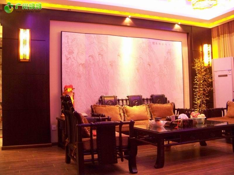 我家的装修效果图,更新了订做的红木沙发图片 装修家居