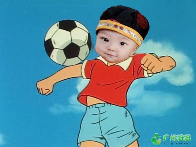 迎合一下妈网的新活动,PS一张宝贝踢足球的相片进来,本人PS的技图片