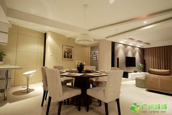 靓丽的简单设计,中国风的特色电视墙 装修家居